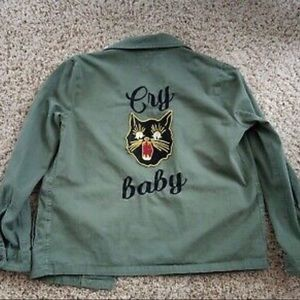 ❤️Pistola Army Green Embroidered Jacket